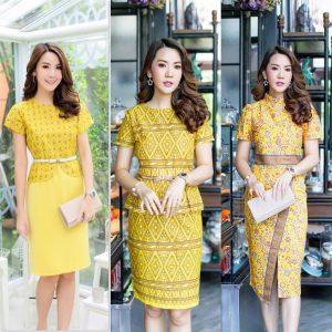 ชุดเดรสสีเหลือง